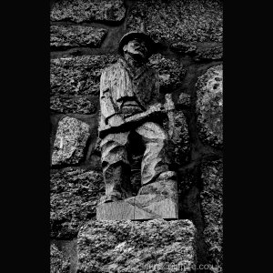 Tinners Arms Zennor Cornish tin miner in Teak